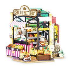 Dollhouse Kits, Wooden Dollhouse, Wooden Dolls, Dollhouse Miniatures, Miniature Rooms, Miniature Furniture, Miniature Crafts, Miniature Houses, Craft Kits
