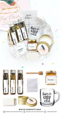Quarantine Care Package - Quarantine Gift Basket - Miss You Gift - Quarantine Gift for Friend - Social Distancing Gift - White Confetti Box Gifts For New Moms, Gifts For Friends, Kids Gifts, Organic Loose Leaf Tea, Cheer Up Gifts, Miss You Gifts, Get Well Soon Gifts, Get Well Soon Basket, Relaxation Gifts