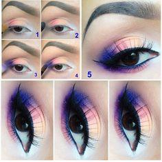 Tutoriel maquillage coloré