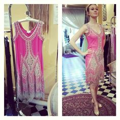 New #1920s style #Flapper dress number 3! #hotpink #Padgram