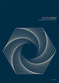 Futurism - Hexiral by Simon C Page