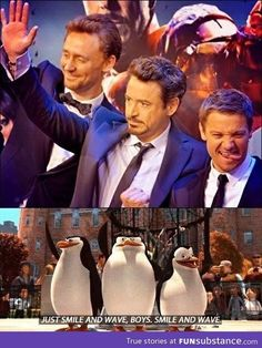 Just smile and wave.