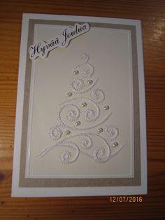 Yltiöpäisromanttinen joulukortti. Kuusen tähti on vielä postissa matkalla.