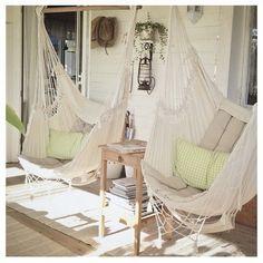 Blissful afternoons #porch #hamocks #chilll
