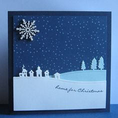 Card made with the Jingle all the Way stamp set and Sleigh Ride Edgelits Dies from Stampin Up.
