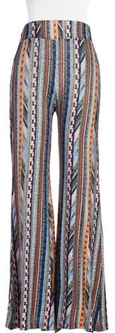 Vintage Havana Printed Bells Flared Pants