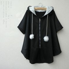 Tips: *Please double check above size and conside Cute students hooded cloak coat Kawaii Fashion, Cute Fashion, Asian Fashion, Girl Fashion, Fashion Dresses, Womens Fashion, Fashion Design, Hooded Cloak, Ulzzang Fashion
