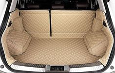 Auto mall Waterproof Custom Fit Cargo Mat Trunk Liners Car Carpet Full Covered Trunk Mats Cargo Liners Leather Boots Liner Pet Mats for Jeep Cherokee 2014-2016 NO subwoofer in the right side of the trunk (Beige) -- Awesome products selected by Anna Churchill