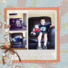 Layout by Jenn. Supplies: Boy Stories by River~Rose Designs; Font: The Other Twin font by Heather Hess.