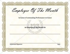 Employee Of The Month Certificate Template Free Orange Lightning Employee Of The Month Certificate  Dfs  Pinterest .