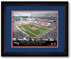 New England Patriots NFL Personalized Stadium Print - Sports Fans Plus  - 2