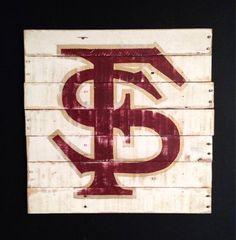 Florida State University Sign / FSU Seminoles by PalletsandPaint