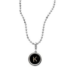 TYPEWRITER KEY NECKLACE | Silver Typewriter Necklace with Authentic, Vintage Letter Key for Writers and Antique Lovers | UncommonGoods