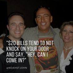 """$20 bills tend to NOT knock on your door and say, """"Hey, can I come in?"""" #entrepreneur #financialfreedom #timefreedom #freedom #impact #legacy #entrepreneurlife #mentor #success #leadership #picoftheday #inspirationalquotes #inspire #motivational #quote #quotes #quoteoftheday"""