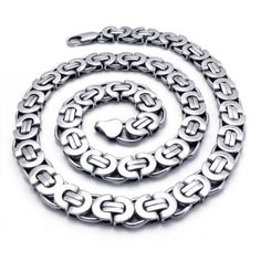 Men's Chain Necklace Made of Titanium 316L Steel Jewelry