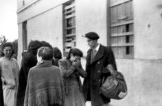 Lodz, Poland, People in front of the prison, before deportation from the ghetto.