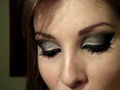 Maquiagem: olhos preto,prata com glitter com Luciane Ferraes