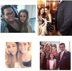 Ariana with fans + Buddy Valastro and his wife and daughter Sophia