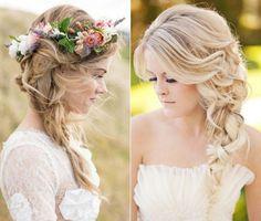 Çiçek Taçlı Gelin Saçı Modelleri
