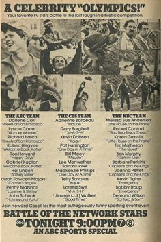 """ABC print ad for """"Battle of the Network Stars"""""""