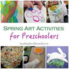 Spring Activities for Preschoolers - Teaching 2 and 3 Year Olds 3 Year Old Activities, Preschool Art Projects, Preschool Art Activities, Spelling Activities, Preschool Learning, Preschool Activities, Teaching, Kids Crafts, Spring Arts And Crafts
