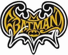 Batman modern logo machine embroidery design. Machine embroidery design. www.embroideres.com
