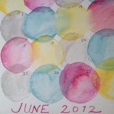 DIY Watercolor Fridge Calenders via Rajovilla - Momfluential Media