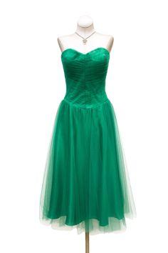 Cabaret Vintage - 1950s Inspired Emerald Cocktail Dress, $125.00 (http://www.cabaretvintage.com/vintage-style/1950s-inspired-emerald-cocktail-dress/)