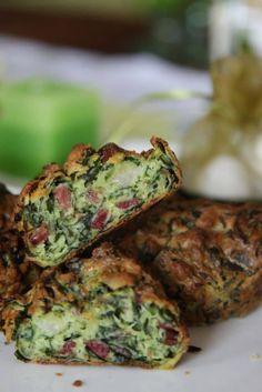 Medvehagymás-sonkás muffin - Kifőztük, online gasztromagazin Hungarian Recipes, Hungarian Food, Avocado Toast, Muffins, Paleo, Snacks, Vegetables, Cooking, Breakfast