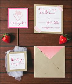 Something for brides to forward to their MOH - strawberry themed summer bridal shower idea