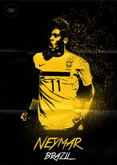 World Cup 2014 - Poster by Hai Giang Ong Hoang, via Behance Neymar Football Ads, Football Design, Soccer World, Play Soccer, Soccer Stuff, Basketball, Neymar Jr, Lionel Messi, Fifa World Cup