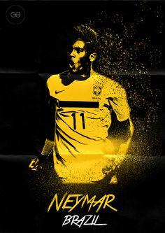 World Cup 2014 - Poster by Hai Giang Ong Hoang, via Behance Neymar Football Ads, Football Design, Soccer World, Play Soccer, Soccer Stuff, Basketball, Neymar Jr, World Cup 2014, Fifa World Cup