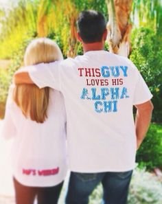 Alpha Chi Omega at ASU celebrating Dads Weekend - These are precious Dads Day shirts.