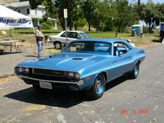 Um...yes.  1970 Bright Blue Hemi Challenger R/T with V6B (1 of 1)