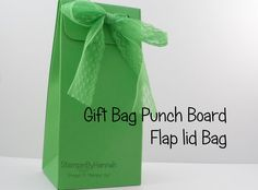 Find another way to use your Gift Bag Punch Board - create this great bag with a flap lid using the Gift Bag Punch Board from Stampin' Up! For all Measuremen...