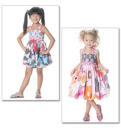 This year's Easter dress pattern for the girls. Can't wait to go fabric shopping!