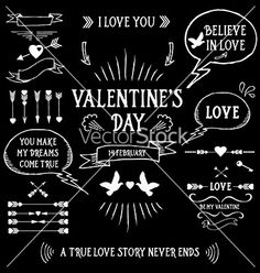 Valentines day poster vector by Marchie on VectorStock®