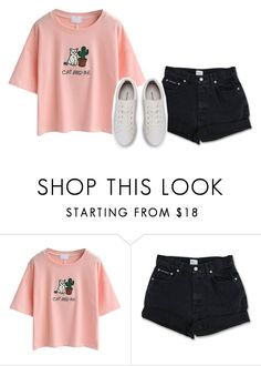 """""""Untitled #665"""" by iiscool ❤ liked on Polyvore featuring WithChic and Calvin Klein"""
