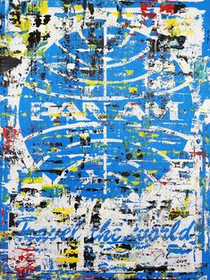 """Marwan Chamaa, """"Pan Am"""", 2019, acrylic on canvas, 76 x 101 cm (29.92 x 39.76 inch). All images are used with the permission by the artist. Re-Pinning is permitted, however, please do not distribute, reproduce, reuse in any shape or form without first contacting the artist: marwan@art-factory.us © Marwan Chamaa First Contact, Reuse, City Photo, Shapes, Canvas, Gallery, Artist, Image, Canvases"""