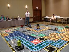 Giant Robo Rally Game made of Legos @ Brickworld Chicago 2012 686 by TooMuchDew, via Flickr