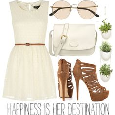 """""""Little White Dress"""" check my polyvore account for more fashion like this  http://jessiicontreras.polyvore.com"""