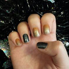 My Fall Jamberry manicure :) #PumpkinSpiceJN and #MidnightSkyJN