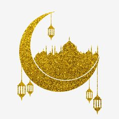 Ramadan Png, Ramadan Images, Mubarak Ramadan, Ramadan Greetings, Ramadan Crafts, Ramadan Decorations, Gold Lanterns, Star Lanterns, Lanterns Decor