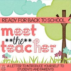 This Meet the Teacher page is a short letter   that allows students and parents to get to  know more about you at the beginning of      the year. This  page can be placed on students desks the morning of the first day along with their bellwork or can be used in your Back To School Night packet for parents.Included is a sample letter along with blank templates that can be edited using PowerPoint to display your own bio.
