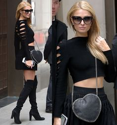 Paris Hilton leaving her hotel for shopping spree at Selfridges in London on April 28, 2016
