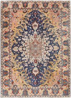 Antique Persian Tabriz Rug 46825 Nazmiyal - By Nazmiyal