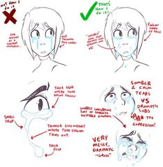 How to draw crying well