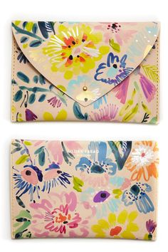 Hand painted leather bags by Lillian Farag