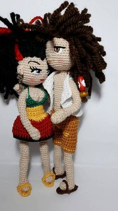 Amigurumi crochet doll made with very fine mercerized cotton yarn measures cm high. Ideal rastafari style as a gift for friends or for you Mercerized Cotton Yarn, Amigurumi Doll, Gifts For Friends, Crochet Hats, Dolls, Style, Ganchillo, Presents For Friends, Knitting Hats