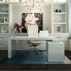 null This modern Camron L-Shape Writing Desk comes with an attached cabinet. The Camron L-Shape Writing Desk is finished in beautiful glossy white lacquer. The attached cabinet features a sliding door and additional storage on the other side. Mesa Home Office, Home Office Space, Home Office Desks, Home Office Furniture, Rustic Furniture, Furniture Layout, Home Office White Desk, Furniture Ideas, Modern Furniture